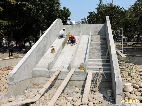 中市公園溜滑梯太陡?居民:安全堪憂 - 生活 - 自由時報電子報