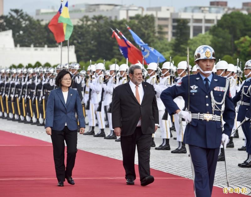聖文森總理訪臺 盛讚蔡總統為女性典範 - 政治 - 自由時報電子報