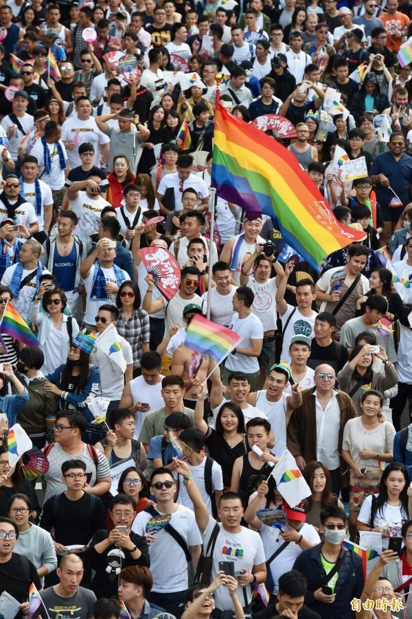 臺灣同志大遊行 BBC讚:亞洲最大 - 生活 - 自由時報電子報