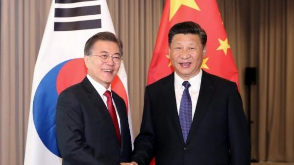 中韓首領破冰會談 韓聯社:雨後地更實 - 國際 - 自由時報電子報