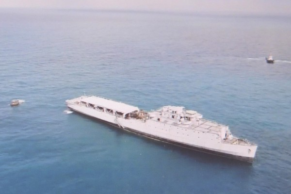 「中正艦」爆破投放 15分鐘沉沒 - 社會 - 自由時報電子報