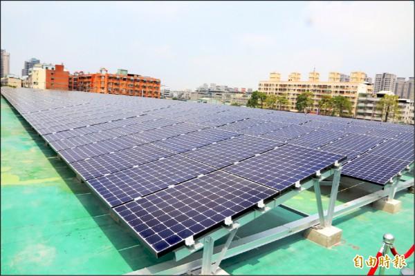 水資中心出租屋頂 太陽能電場吸「金」 - 地方 - 自由時報電子報