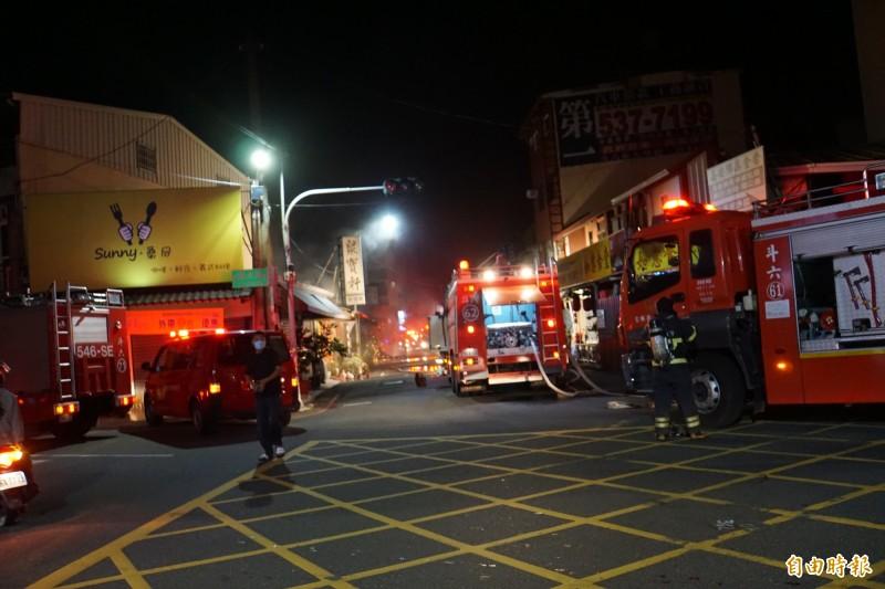 斗六市區暗夜火警 警笛響徹夜空 - 社會 - 自由時報電子報