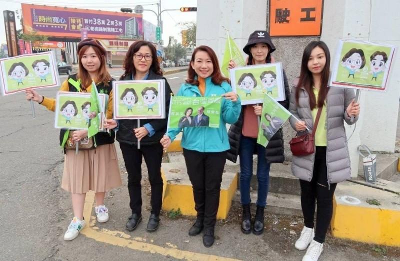 選票保護臺灣!南投綠營街頭拜票 勿做第2個香港 - 政治 - 自由時報電子報