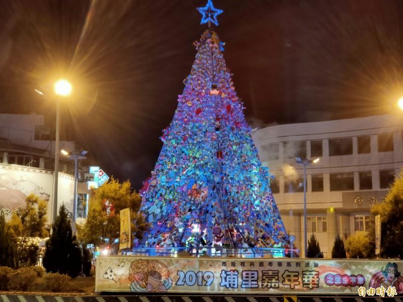 宣揚減塑近7個月 埔里地標圓環「玩具耶誕樹」防颱拆除 - 生活 - 自由時報電子報