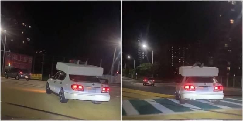 淡水的移動彈簧床!他開車見到這幕嚇傻 警方將開罰 - 社會 - 自由時報電子報