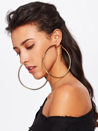 Smooth Oversized Hoop Earrings EmmaCloth-Women Fast ...