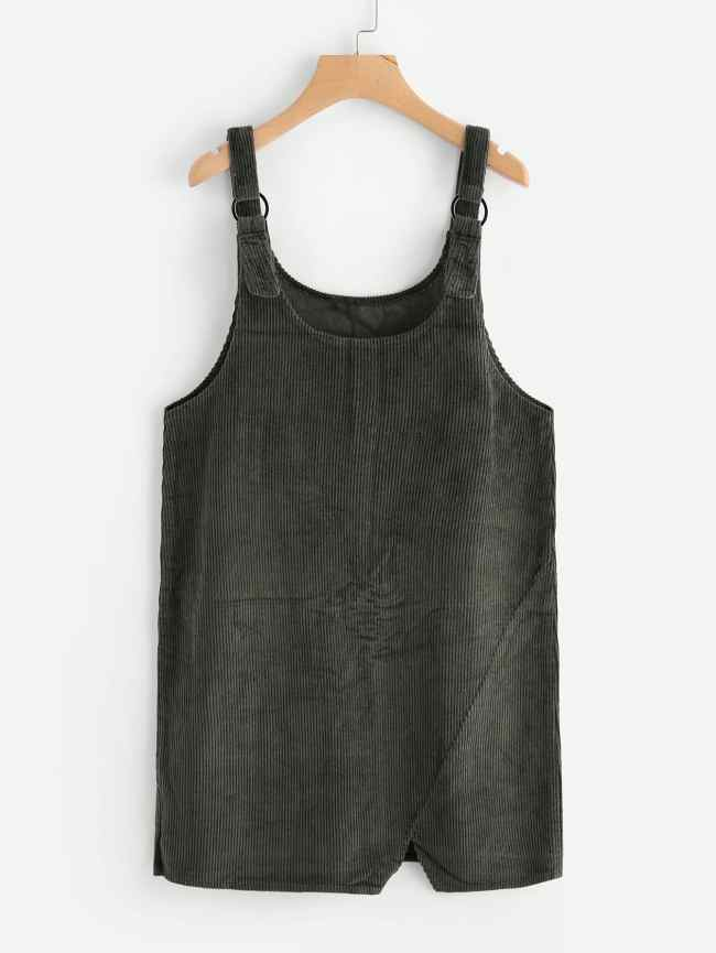 SheIn Cut Out Hem Ribbed Overall