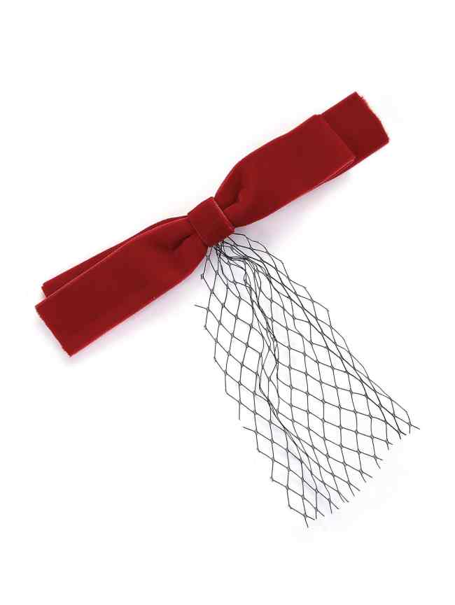 SheIn Bow Design Mesh Detail Hair Clip