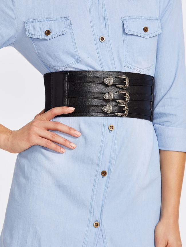 SheIn Metal Buckle Decorated Wide Belt