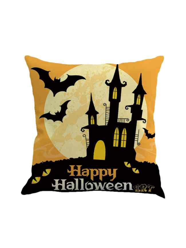 SheIn Halloween Print Pillowcase Cover