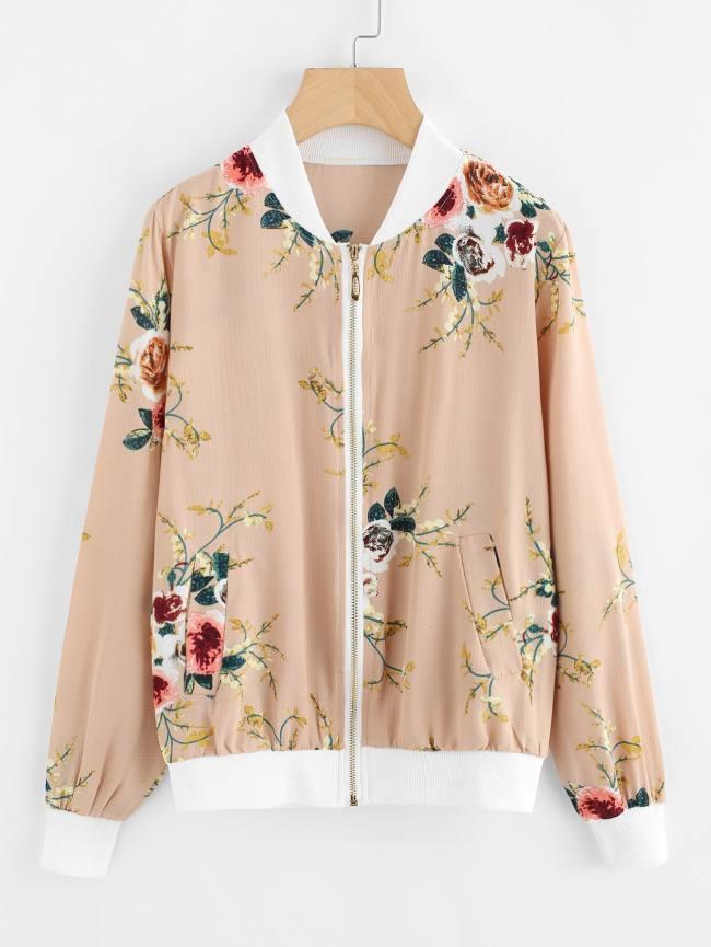 SheIn Floral Print Chiffon Jacket