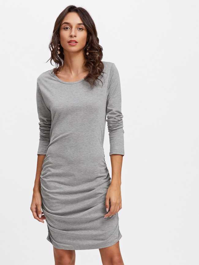 SheIn Ruched Detail Slim Fit Dress