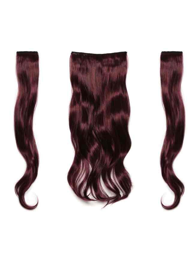 SheIn Black & Burgundy Clip In Soft Wave Hair Extension 3pcs