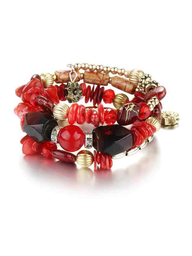 SheIn Contrast Beaded Layered Bracelet