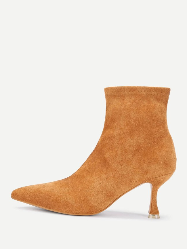 SheIn Kitten Heeled Ankle Boots