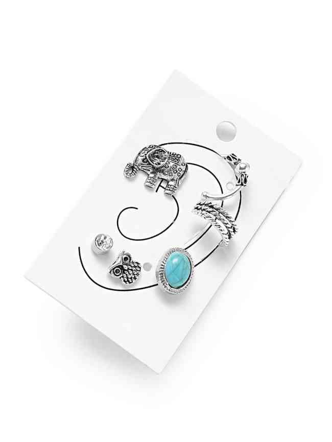 SheIn Mixed Stud Earring 6pcs
