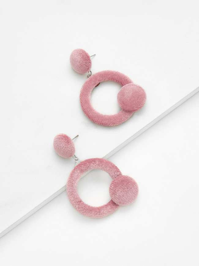 SheIn Open Circle Velvet Earrings