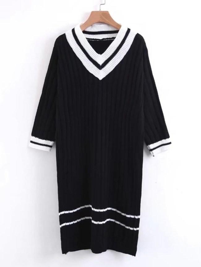 SheIn Varsity Striped Sweater Dress