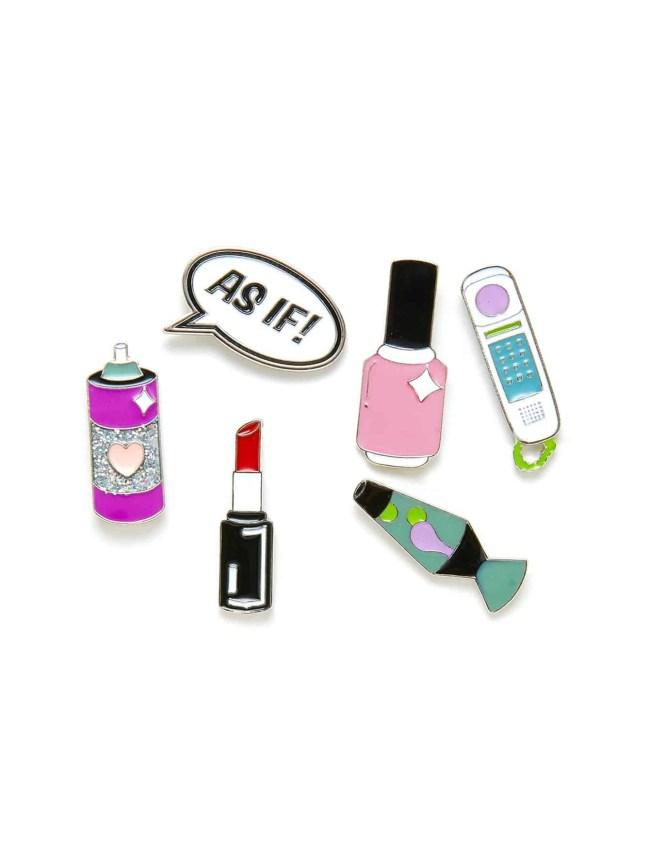 SheIn Lipstick And Vase Design Brooch Set
