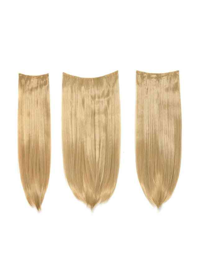 SheIn Honey Blonde Clip In Straight Hair Extension 3pcs