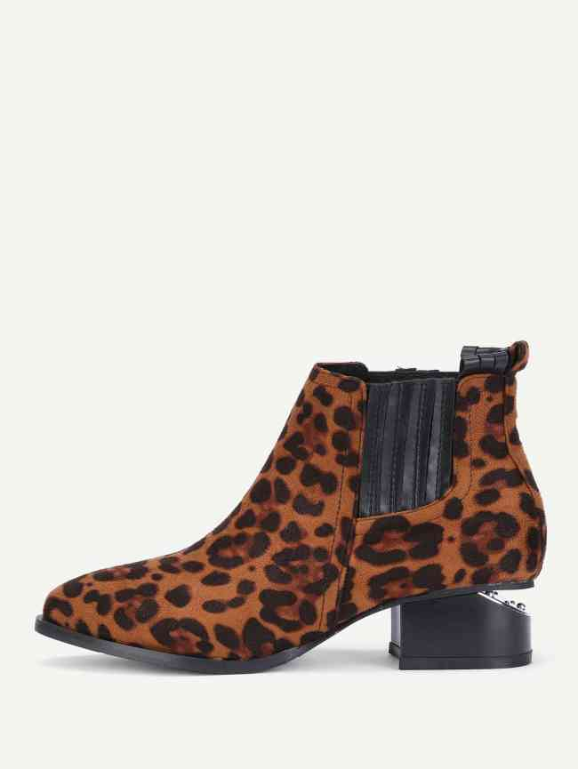 SheIn Leopard Chelsea Boots