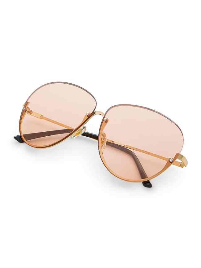SheIn Rimless Aviator Sunglasses