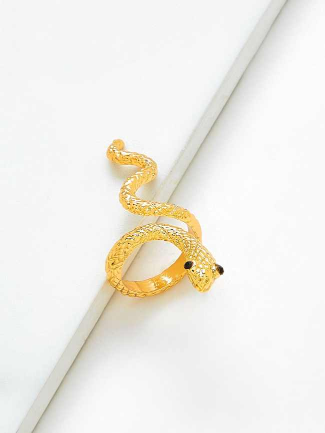 SheIn Rhinestone Snake Design Ring