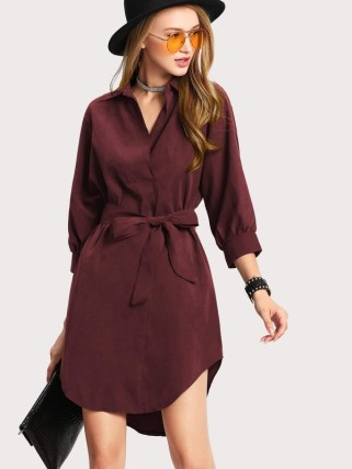 15133234641629194099 thumbnail 600x - Shein Burgundy Dress
