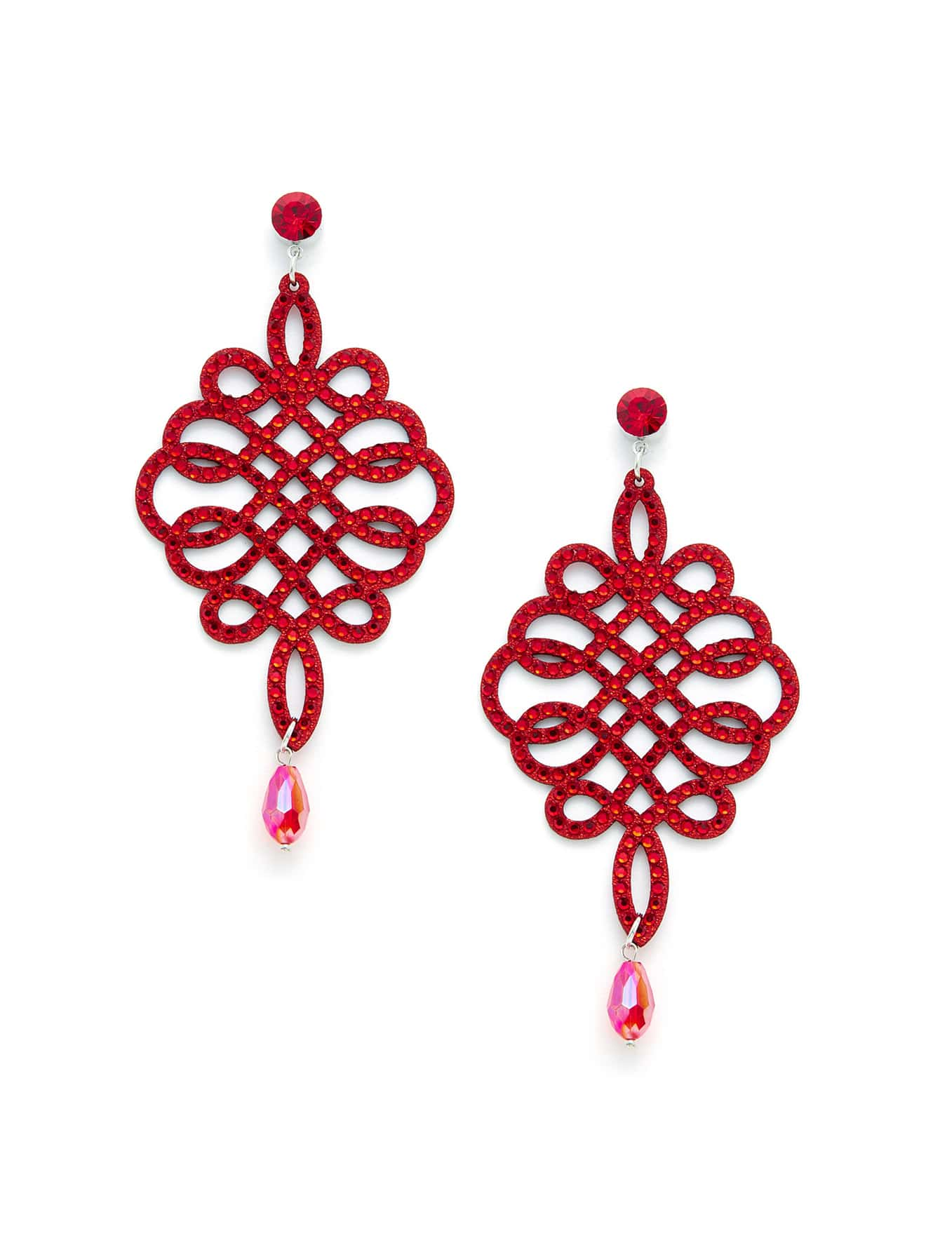 Chinese Knot Design Drop Earrings EmmaCloth
