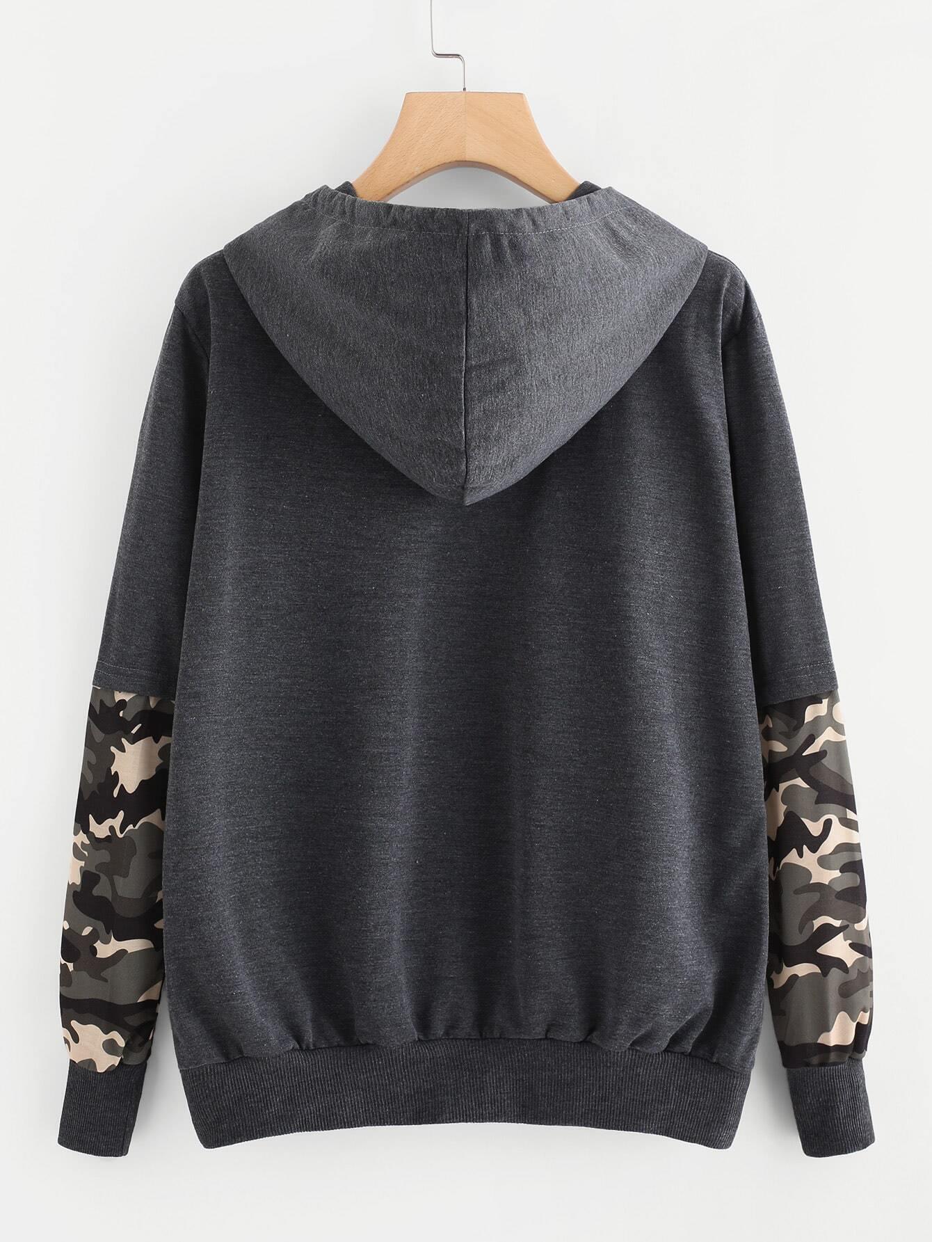Cat Camouflage Hooded Sweatshirts