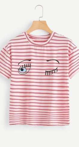 Shein Stripe T-shirt
