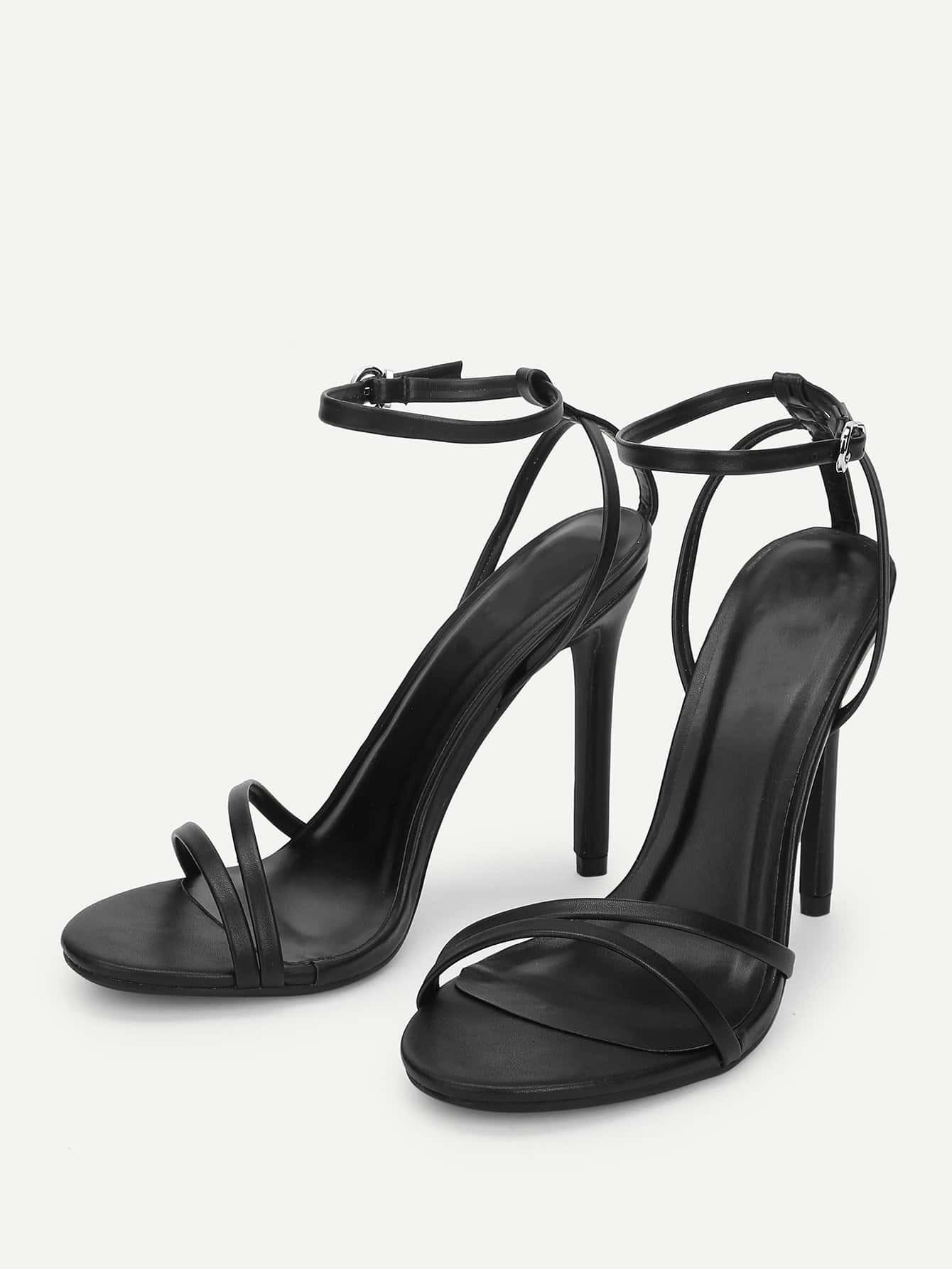 繞踝細帶高跟涼鞋 | SHEIN臺灣