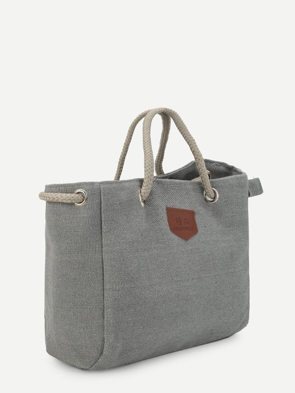rope handle canvas tote