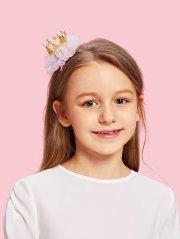 crown design kids hair clip set