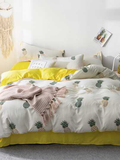 Pineapple Print Sheet Set