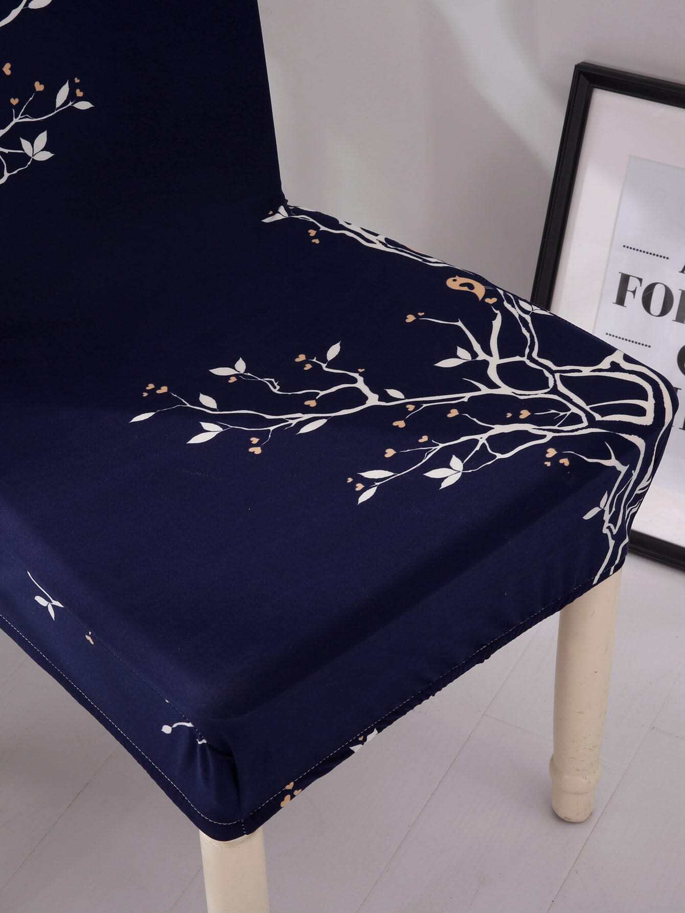 chair covers for sale in trinidad hickory bedside tables tree print stretchy cover shein sheinside