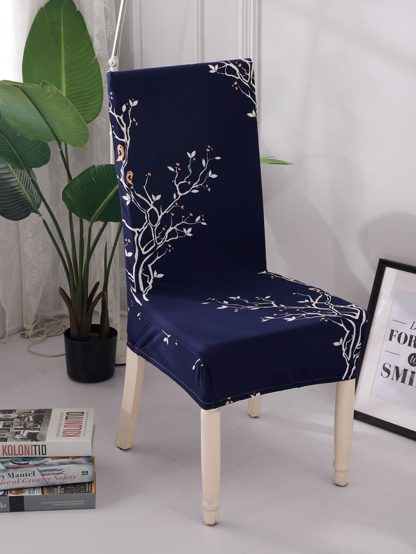 chair covers for sale in trinidad bar height chairs with arms tree print stretchy cover shein sheinside