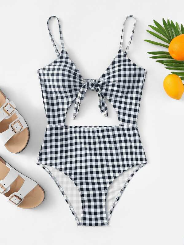 gingham pattern cut out