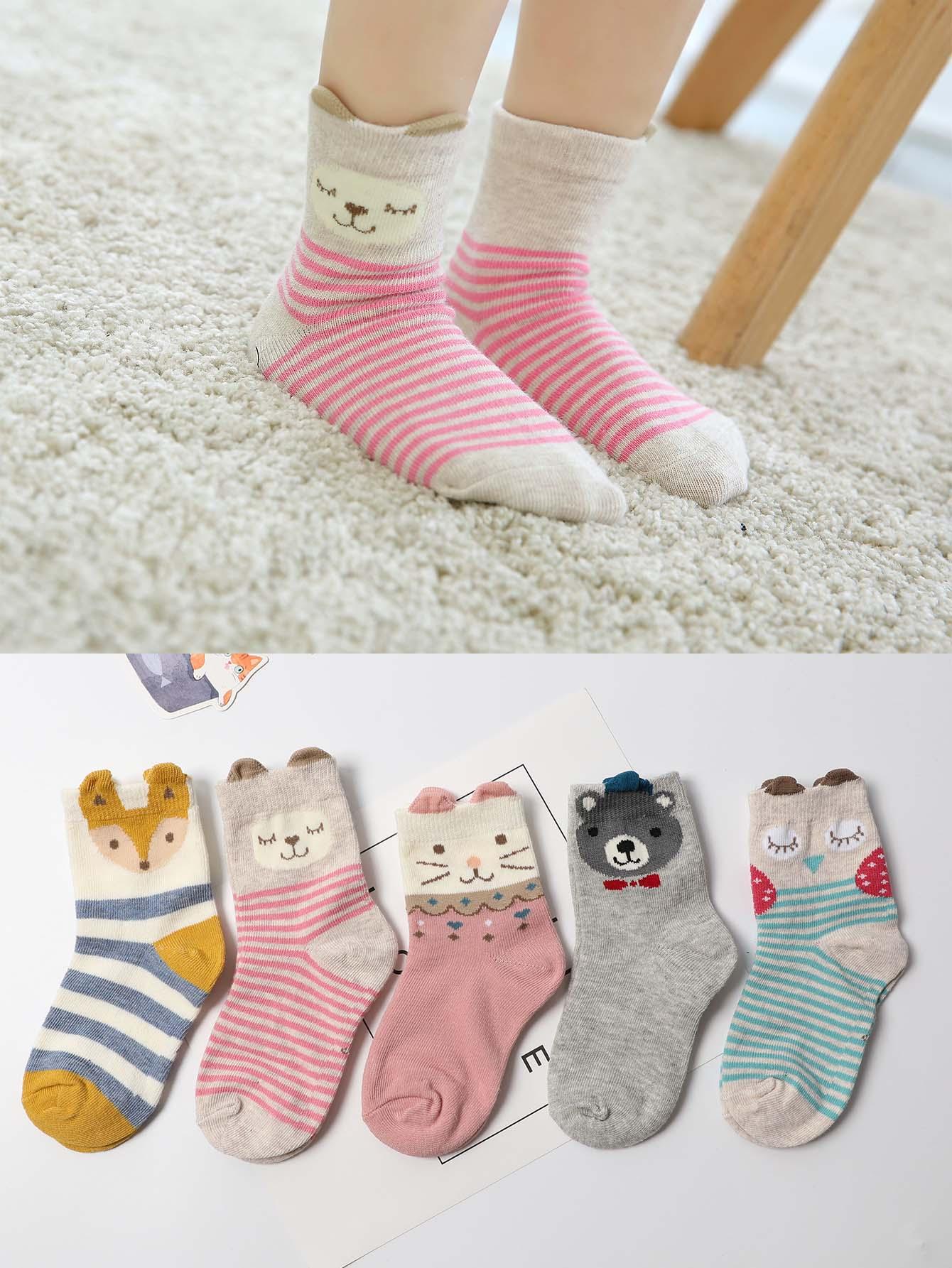 兒童卡通襪子5雙 | SHEIN臺灣