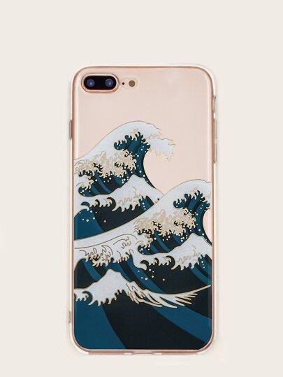 Ocean Wave Pattern iPhone Case Beach Vacation Print Waves Pretty
