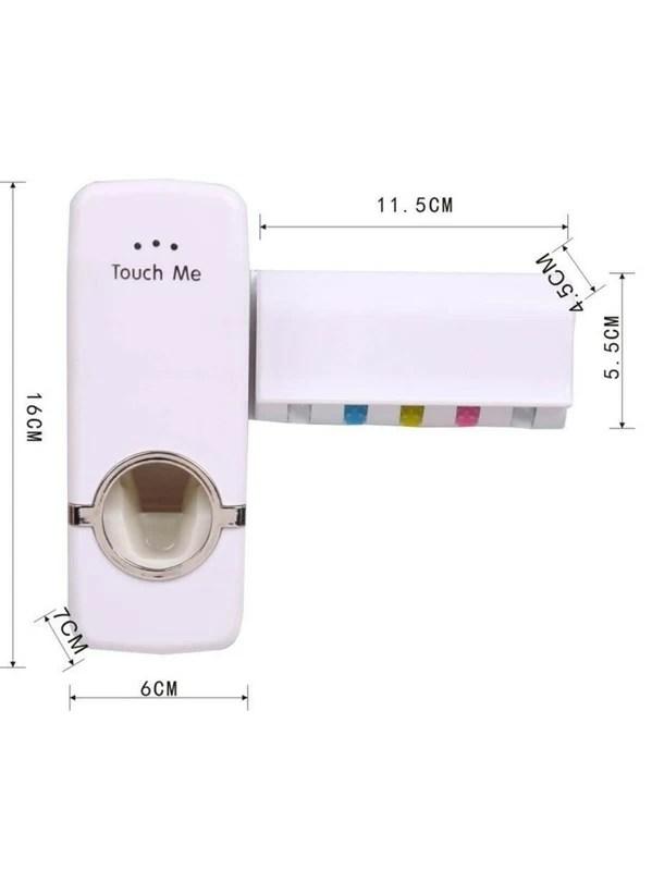 rangement de salle de bain blanc blanche porte brosse a dents support