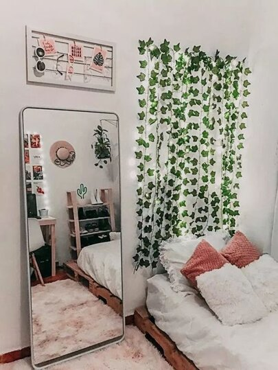 20pcs Bulb Decorative Vine String Light 2M. Indoor Plant Party Lights, Home Decor