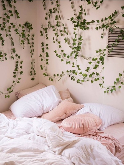 2M Artificial Leaf Vine. Messy Bed. Climbing Vines on Wall Plants Home Decor