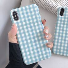 1pc Gingham Pattern iPhone Case