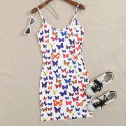 Butterfly Print Cami Dress
