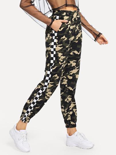 Pantalon imprimé camouflage