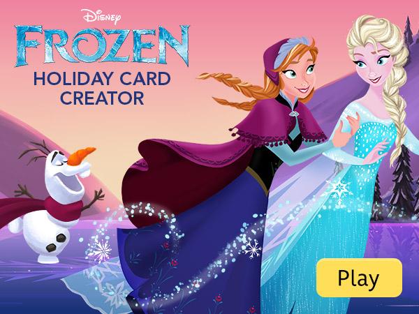 Disney Frozen Holiday Card Creator Disney Games
