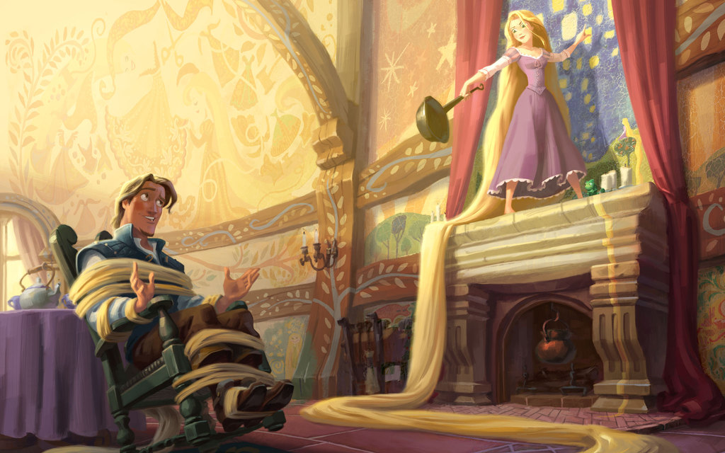 Image result for rapunzel story animated