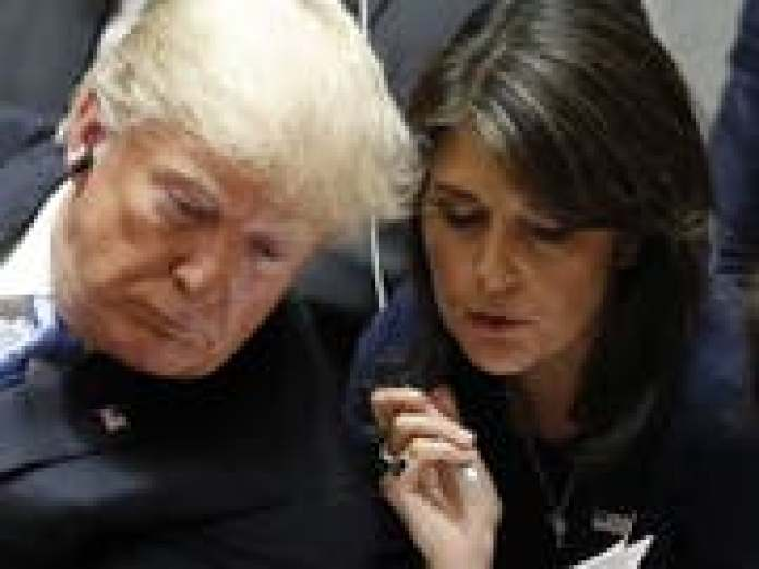 """""""To undermine a president is really a dangerous affair"""": Nikki Haley, former US Ambassador to the UN. (Picture: KEYSTONE / EPA / JUSTIN LANE)"""